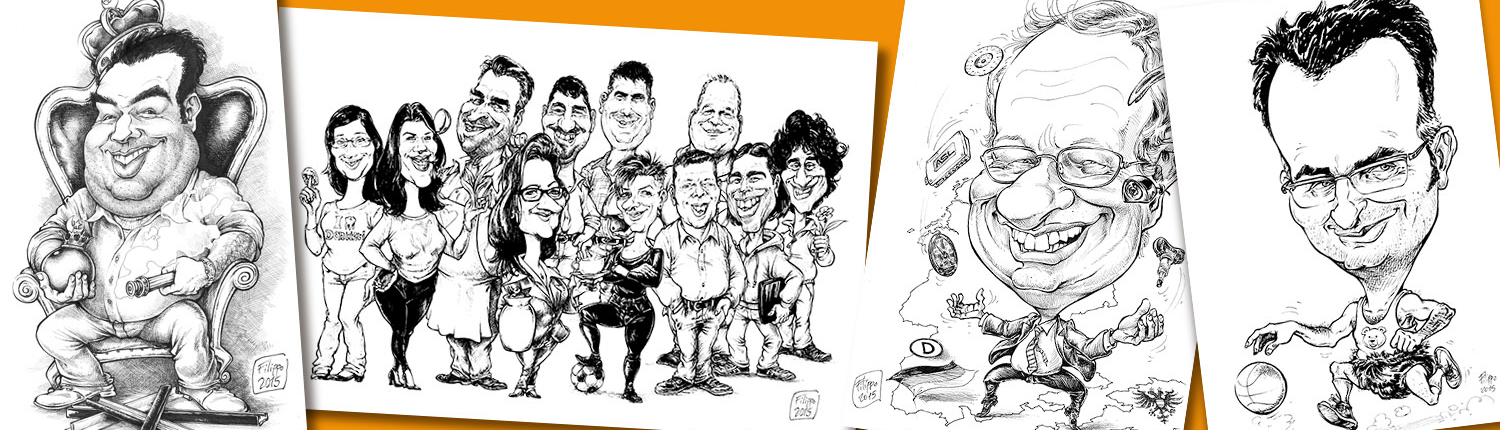 caricaturist and speed-cartoonist Germany, tradeshow artist Frankfurt trade fair