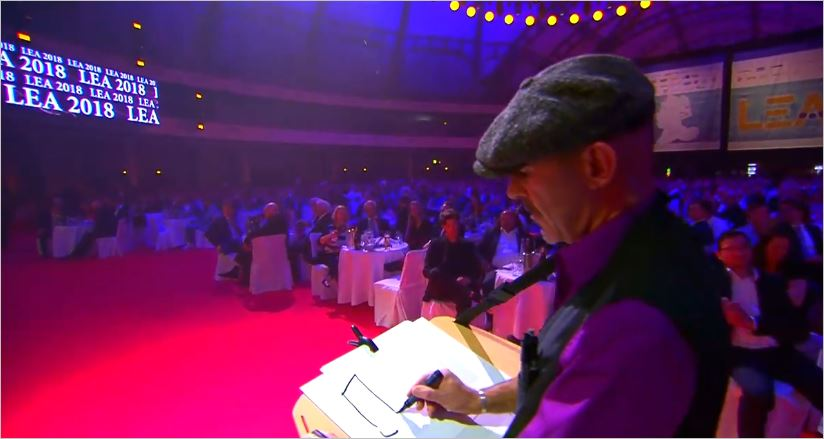 speedcartooning at LEA Festhalle Frankfurt Live Entertainment Award