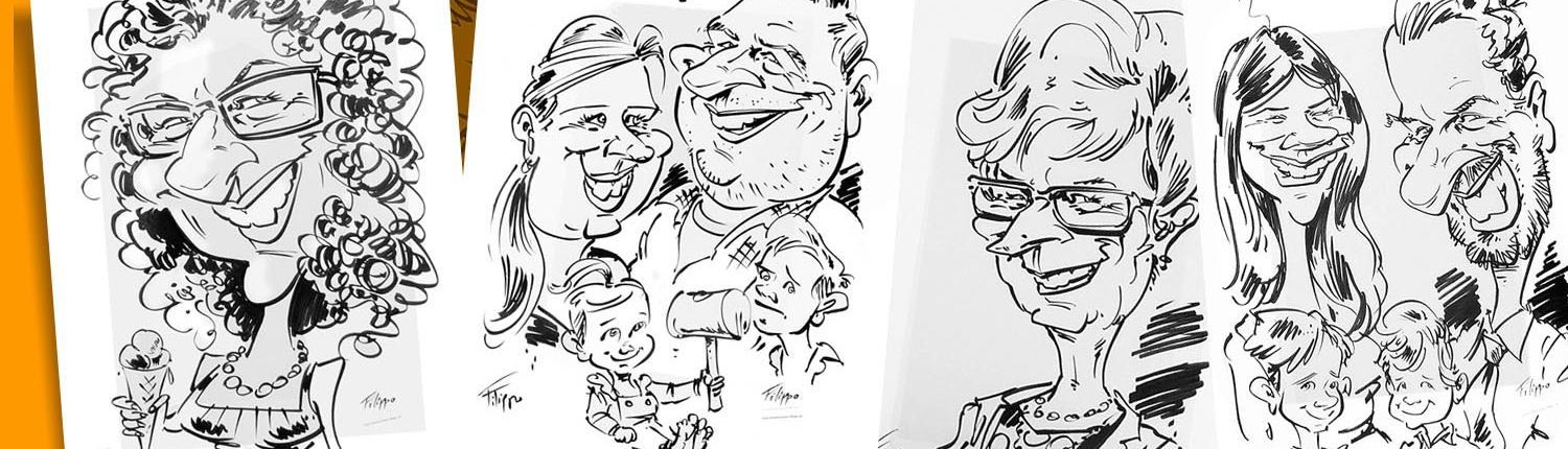 caricaturist for trade shows and corporate event in germany